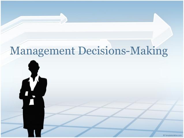 N201 Management Decision Making